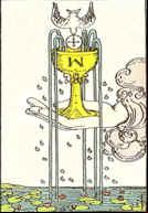Tarot Karte As der Kelche