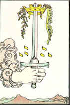Tarot Karte As der Schwerter