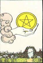 Tarotkarte As der Sterne