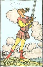 Tarot Karte Schwertbube