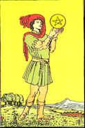 Tarot Karte Bube der Sterne