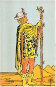 Tarot Karte Bube der Stäbe