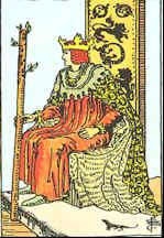 Tarotkarte König der Stäbe