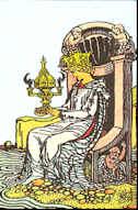 Tarot Karte Königin der Kelche
