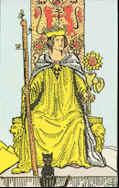 Tarot Karte Königin der Stäbe