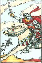 Tarot Karte Ritter der Schwerter
