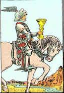 Tarot Karte Ritter der Kelche