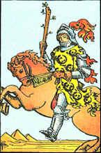Tarot Karte Ritter der Stäbe
