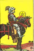 Tarot Karte Ritter der Sterne