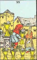 Tarot Karte Sechs Kelche