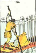Tarot Karte Sechs Schwerter