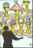 Tarot Karte Sieben Kelche