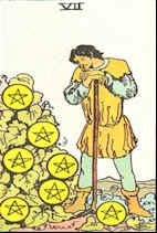 Tarot Karte Sieben Sterne