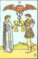 Tarot Karte Zwei Kelche