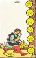 Tarotkarte Acht Sterne