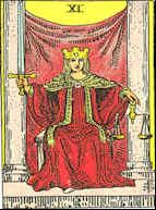 Tarot Karte Die Gerechtigkeit