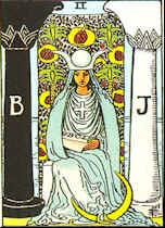 Tarot Karte Die Hohepriesterin