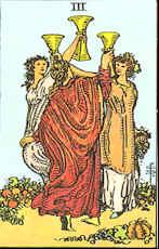 Tarot Karte Drei Kelche