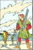 Tarot Karte AFünf Schwerter