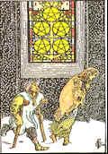 Tarot Karte Fünf Sterne