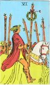 Tarot Karte Sechs Stäbe
