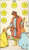 Tarot Karte Sechs Sterne