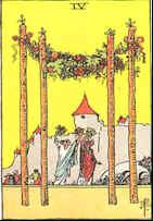 Tarot Karte Vier Stäbe