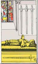 Tarot Karte Vier Schwerter