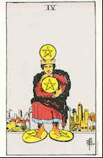 Tarot Karte Vier Sterne