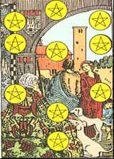 Tarot Karte Zehn Sterne