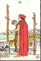 Tarot Karte Zwei Stäbe