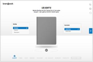 Buchkonfigurator Screenshot