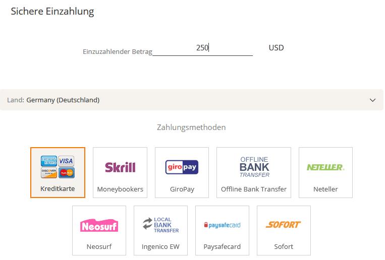 BitQT Einzahlung