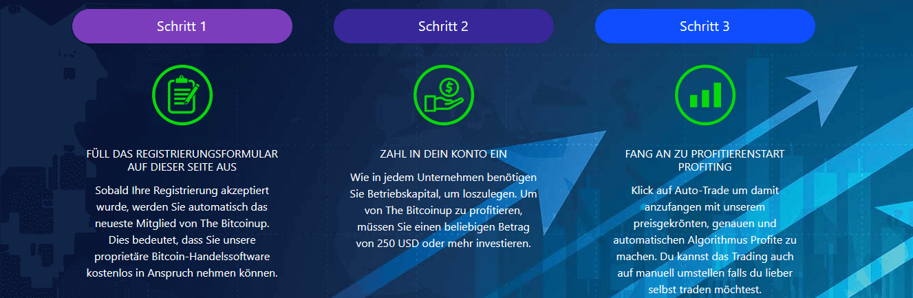 Bitcoin up Anmeldung