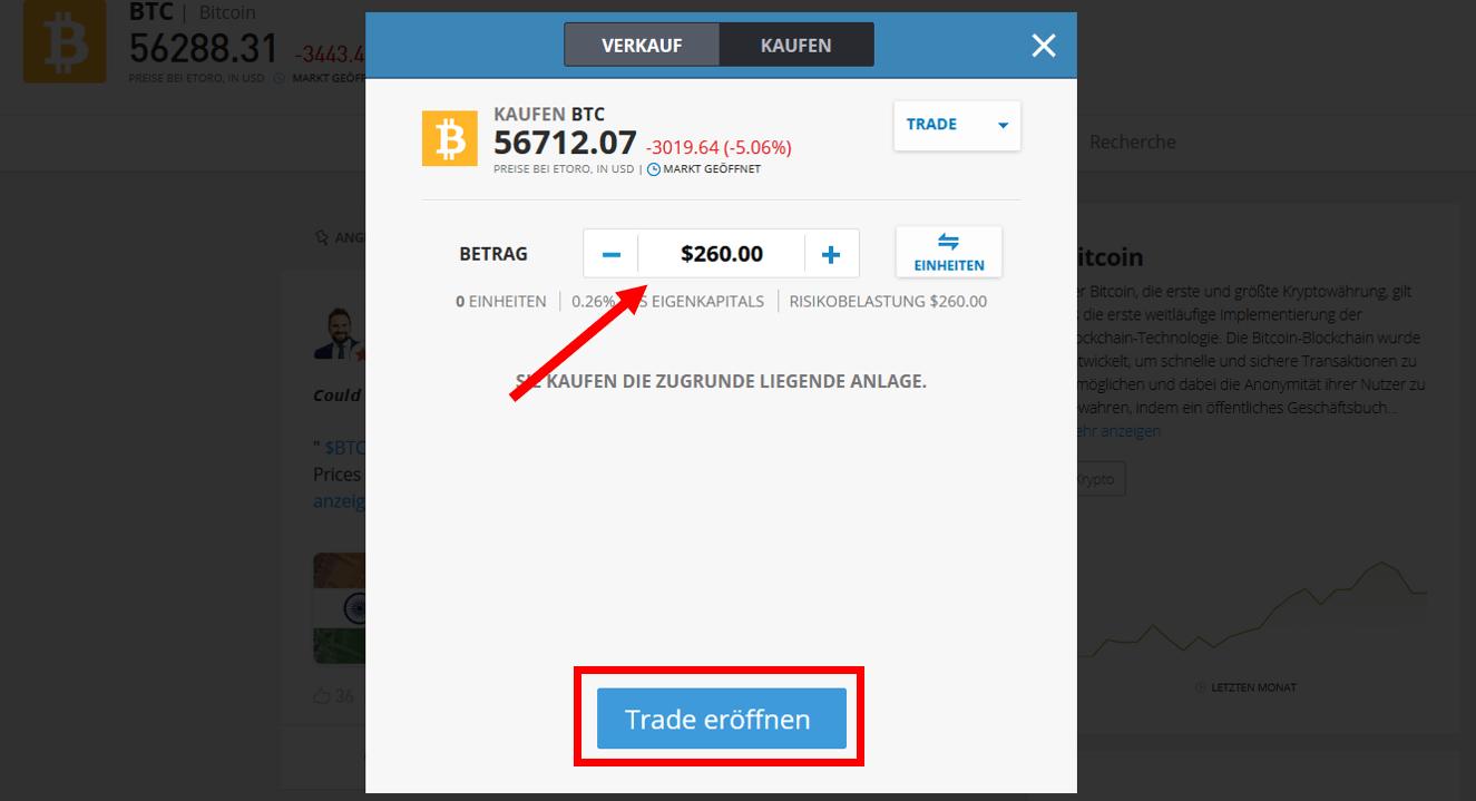 Bitcoin kaufen per Paypal bei etoro