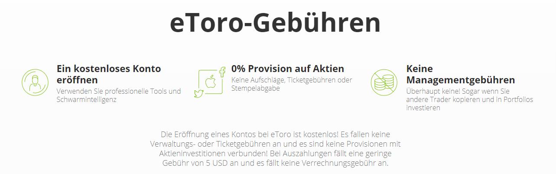 eToro Gebühren