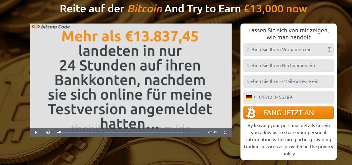 Bitcoin Prime Anmeldung