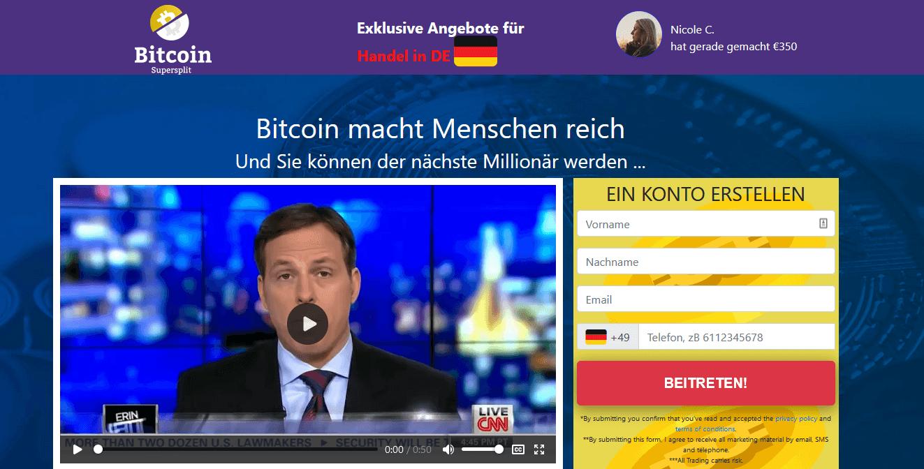 Bitcoin Supersplit Test